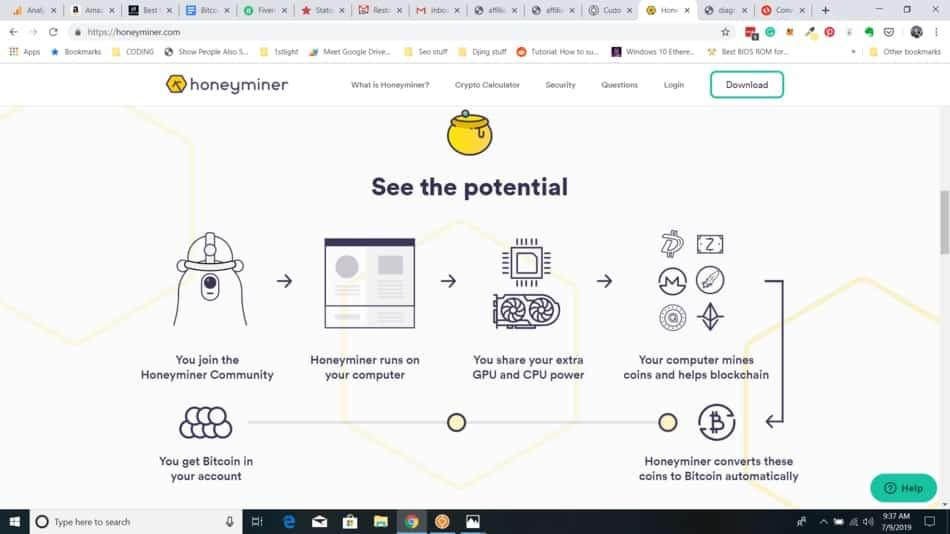 honey miner bitcoin mining software