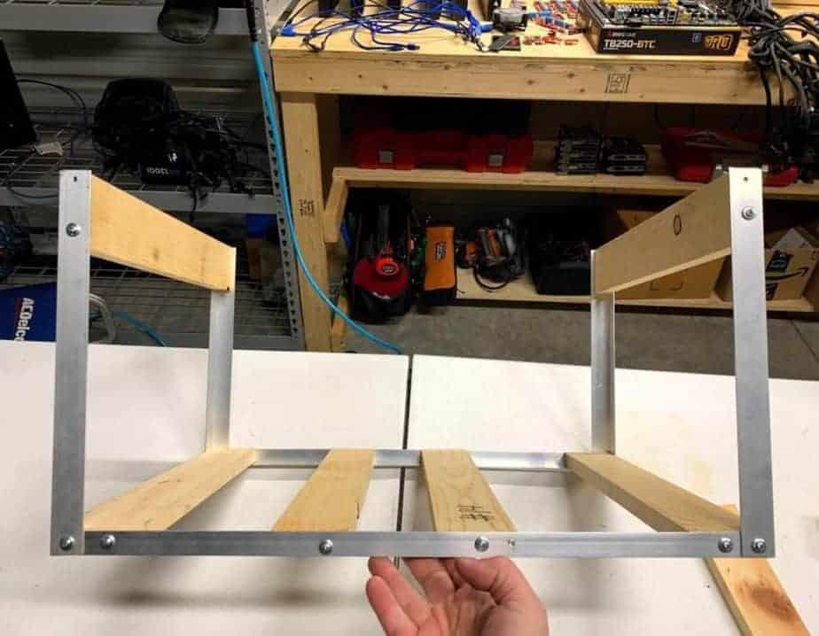 diy mining rig frames step 4